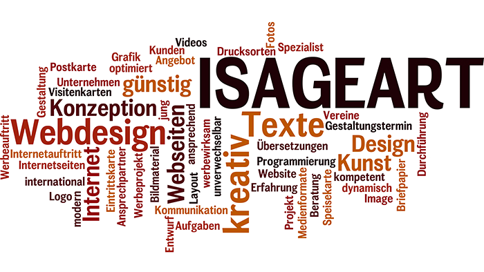 Wordle der Firma Isageart