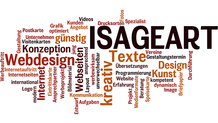 Wordle dell'ISAGEart